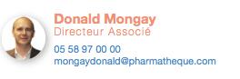 Donald Mongay, Directeur Associé, Pharmatheque, transactions de pharmacies