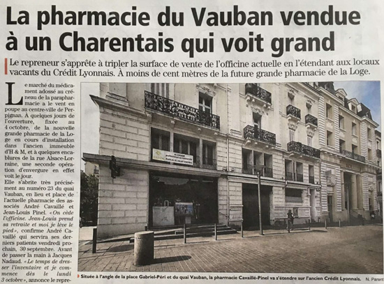 Augmenter la surface de vente pharmacie perpignan