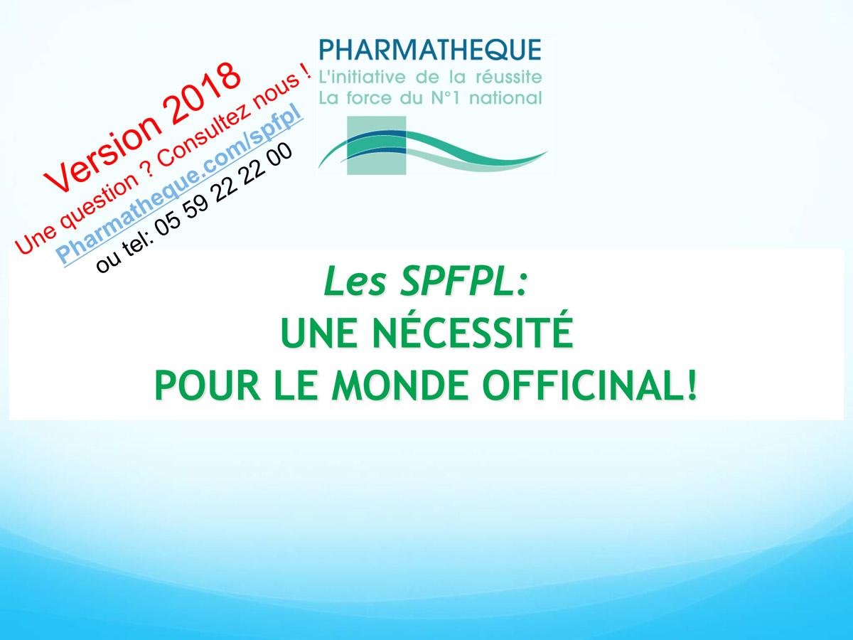 SPFPL, SEL et Holdings de Pharmacie